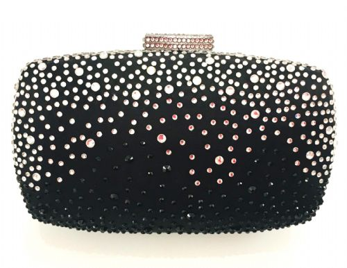 The Kikki Black & Silver Clutch